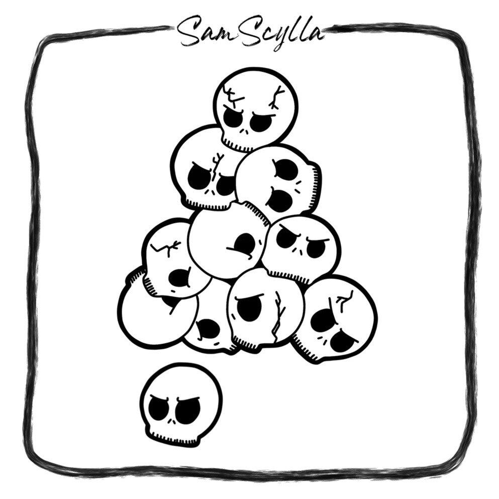 Skull Pile Sticker