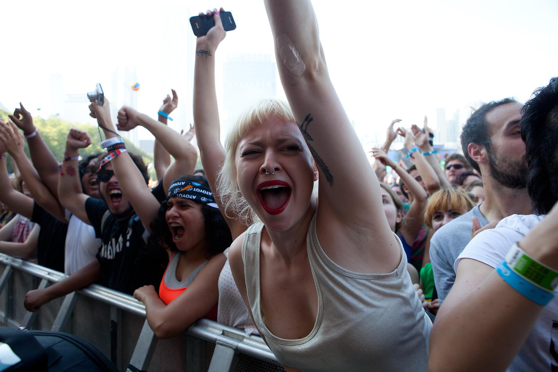 Die Antwoord Fans @ Lollapalooza 2012