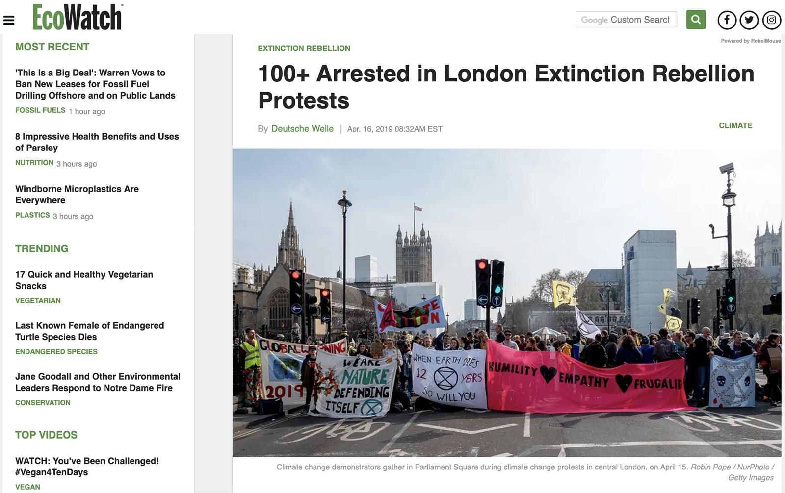 Extinction Rebellion Protest April 2019