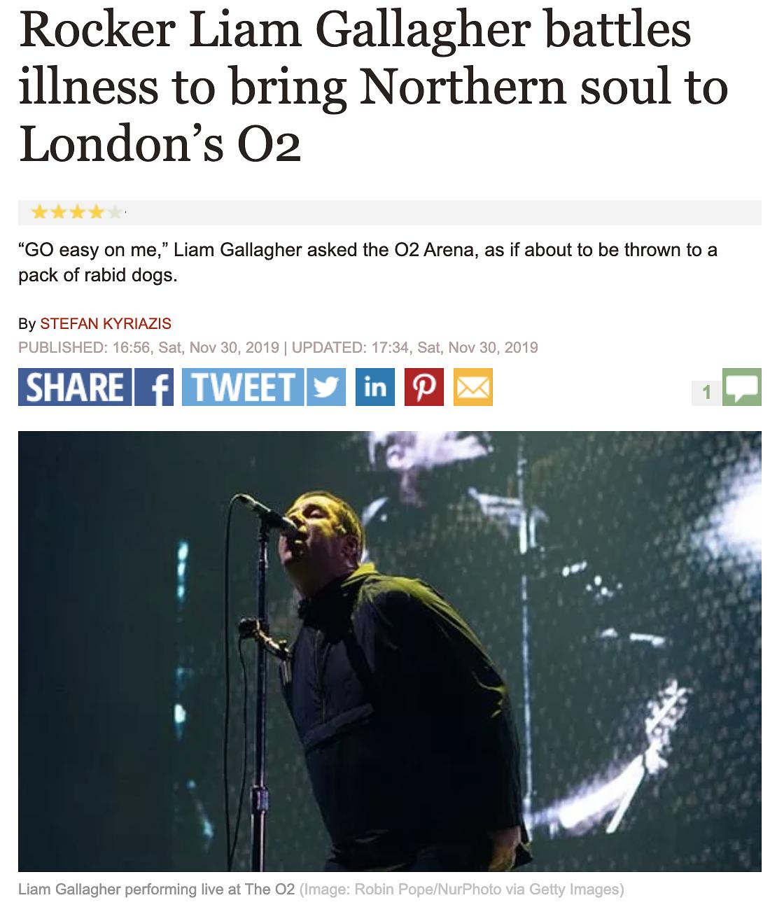 Liam Gallagher O2 Arena