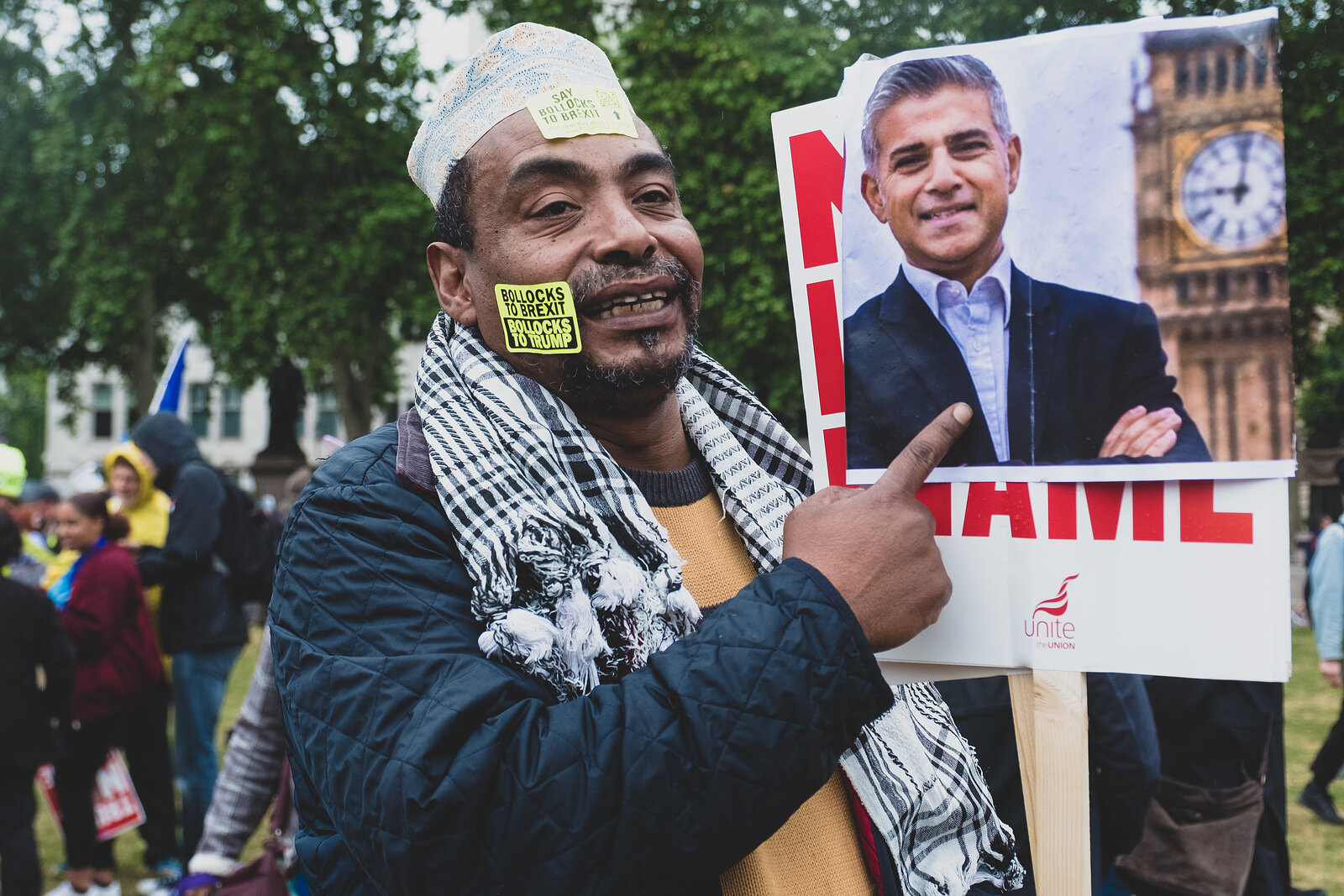 People Protest Against U.S President Donald Trump Three Day State Visit to the UK