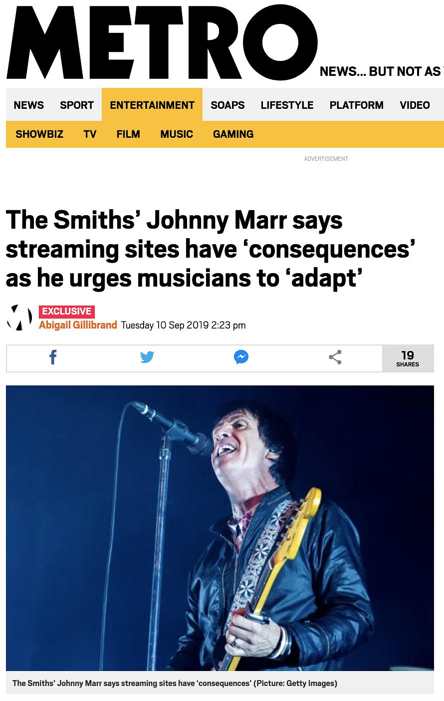 Johny Marr live at The Roundhouse - AIM Award Show