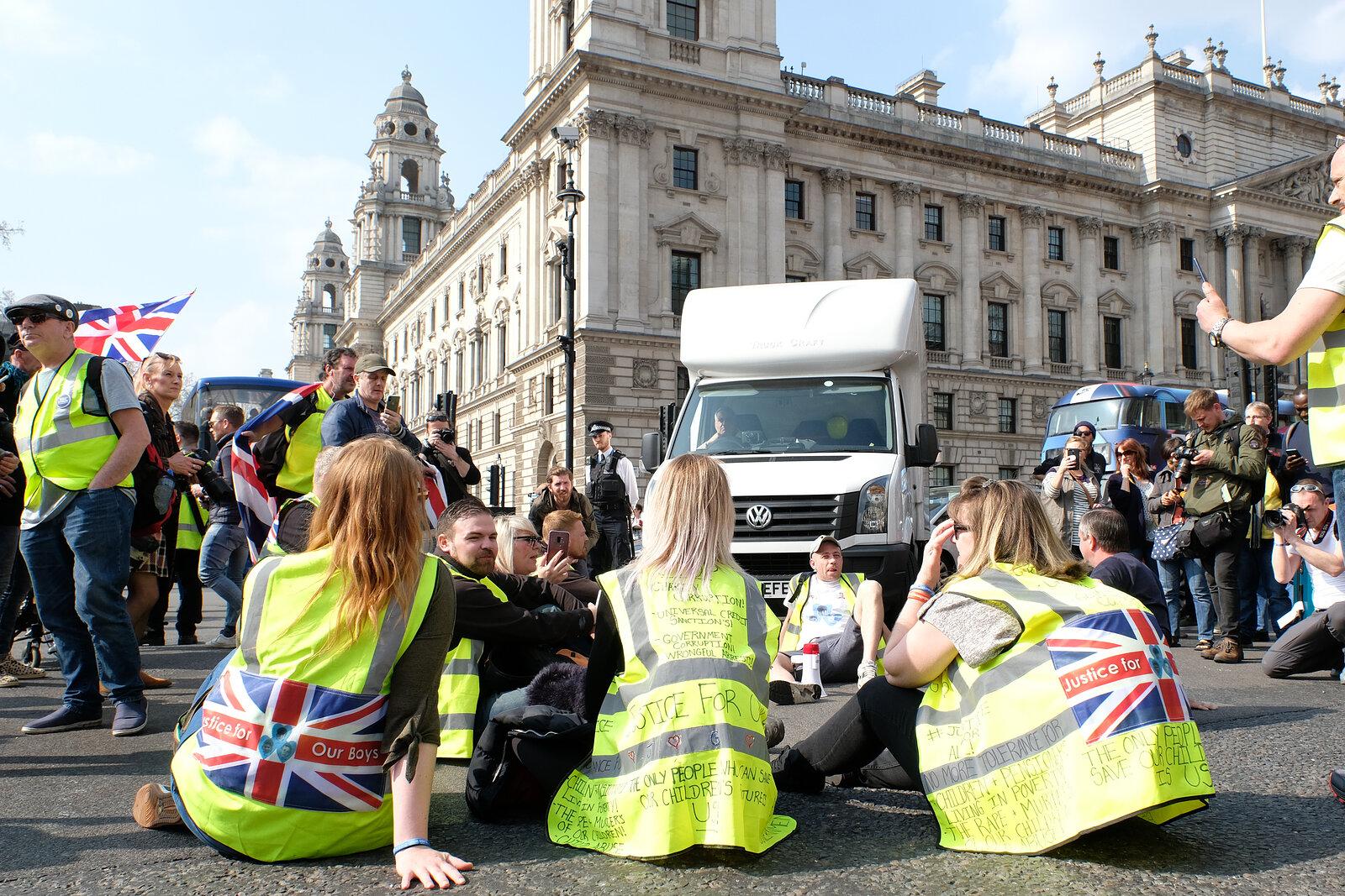 Yellow Vests UK Brexit Protestors