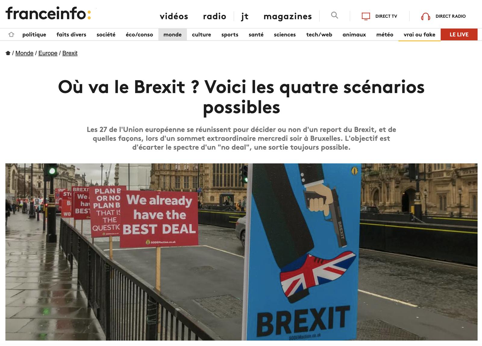 Anti-Brexit Placards
