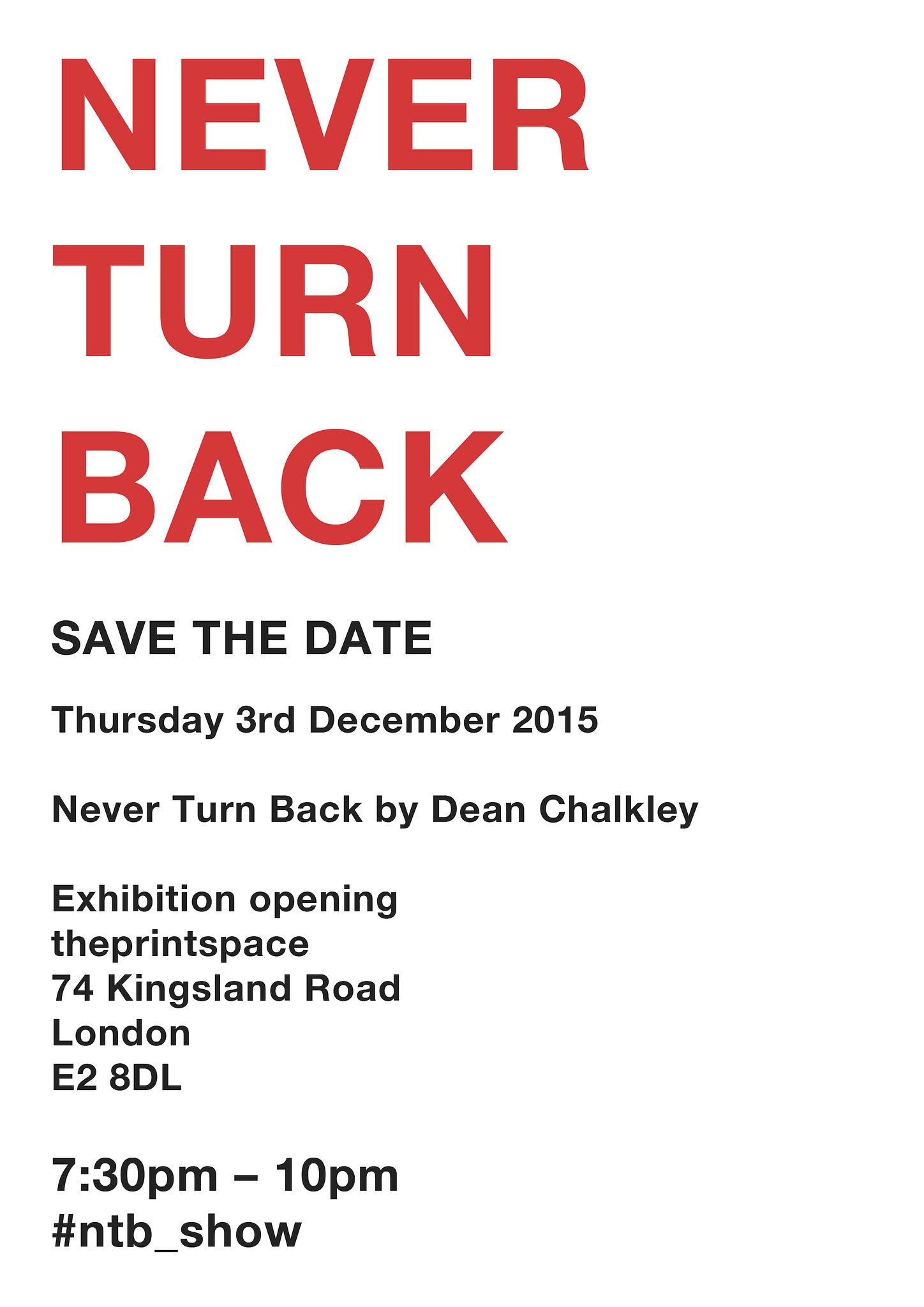 NTB Save the Date London