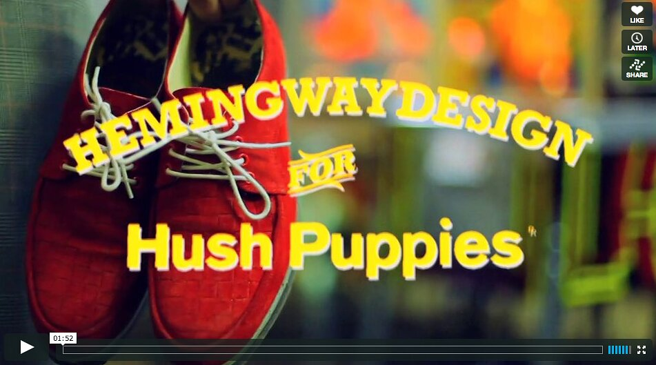 screengrab Hemingway design for hush puppies ss13