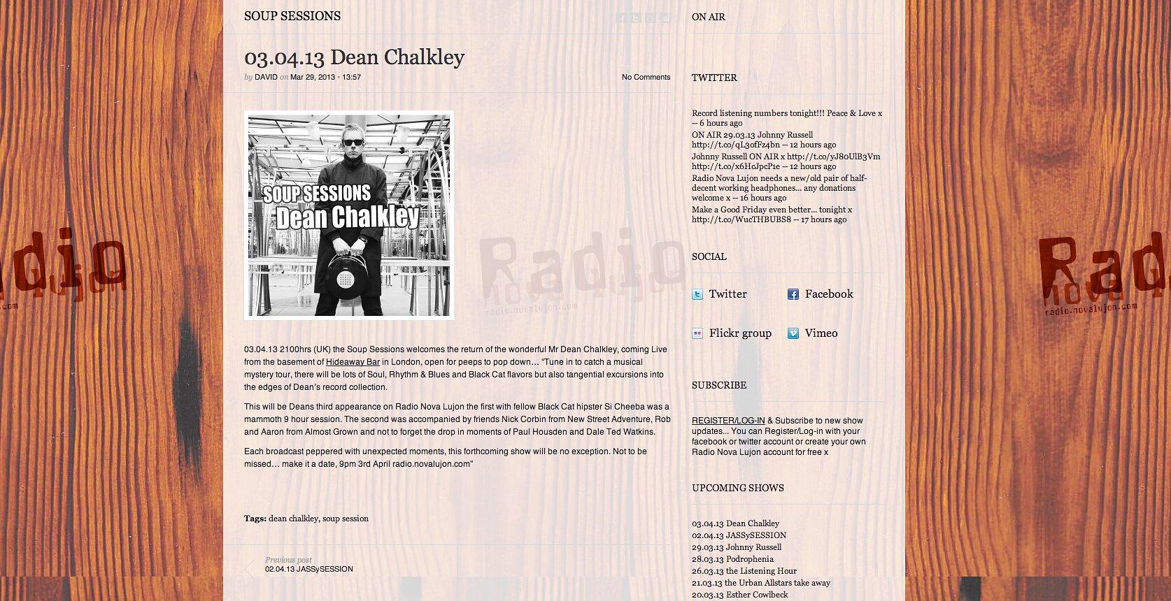 radio novalujon cover page