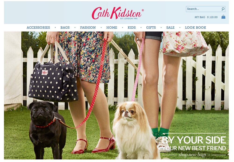 Cath Kidston home page