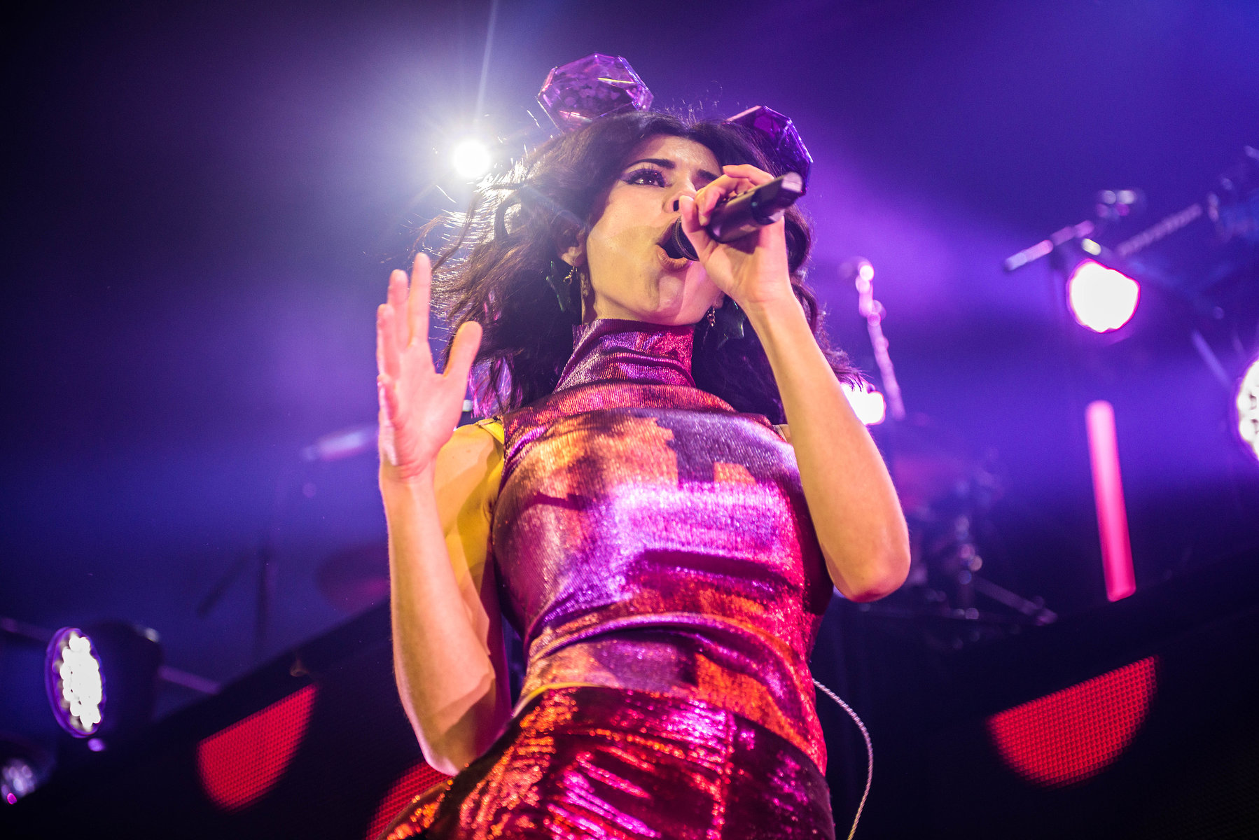 Marina and the Diamonds on Froot Sundae at the Roundhouse, London, February 2016.