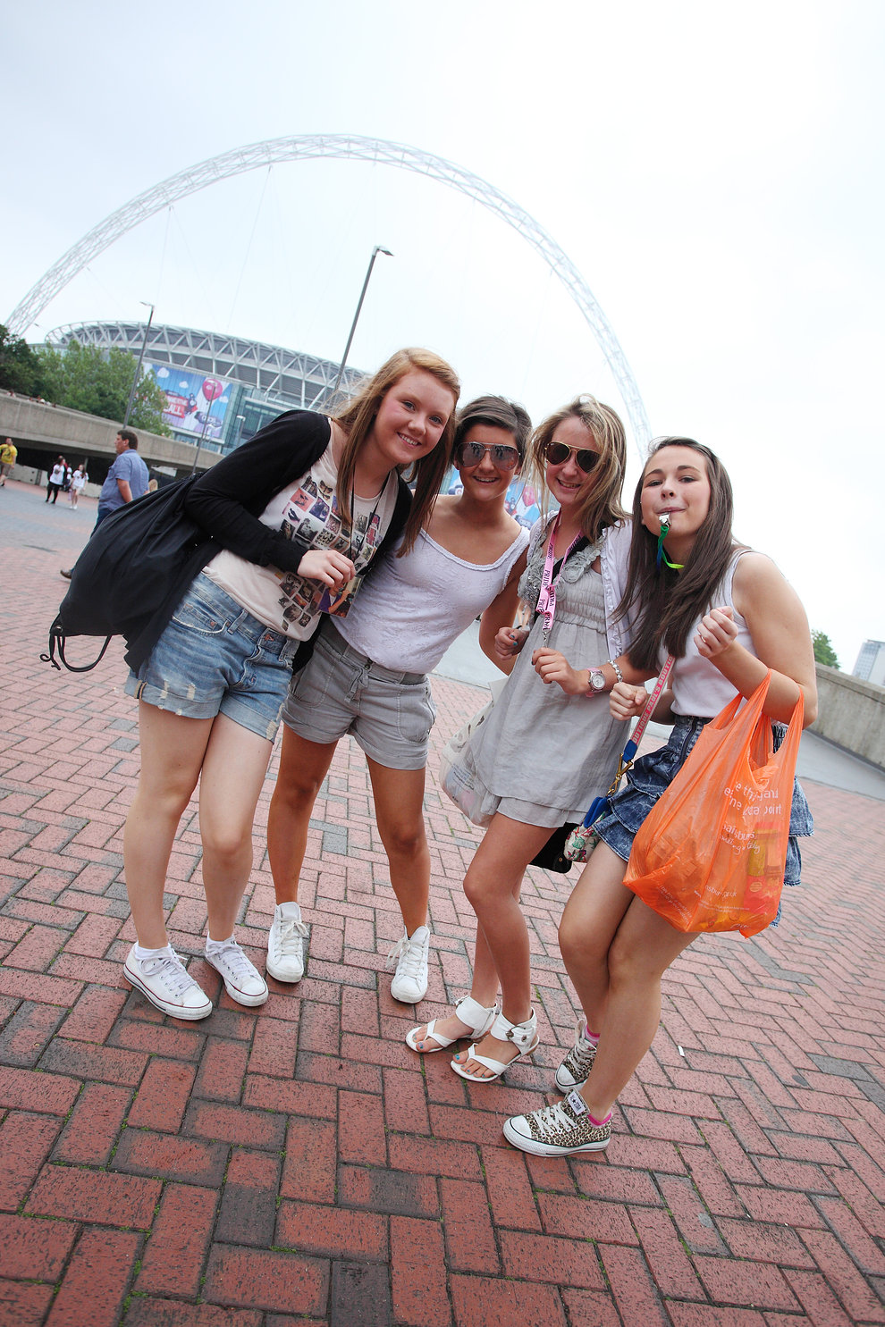 Girls arriving at Wembley