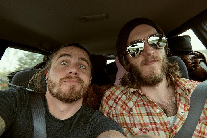 in car self w/David