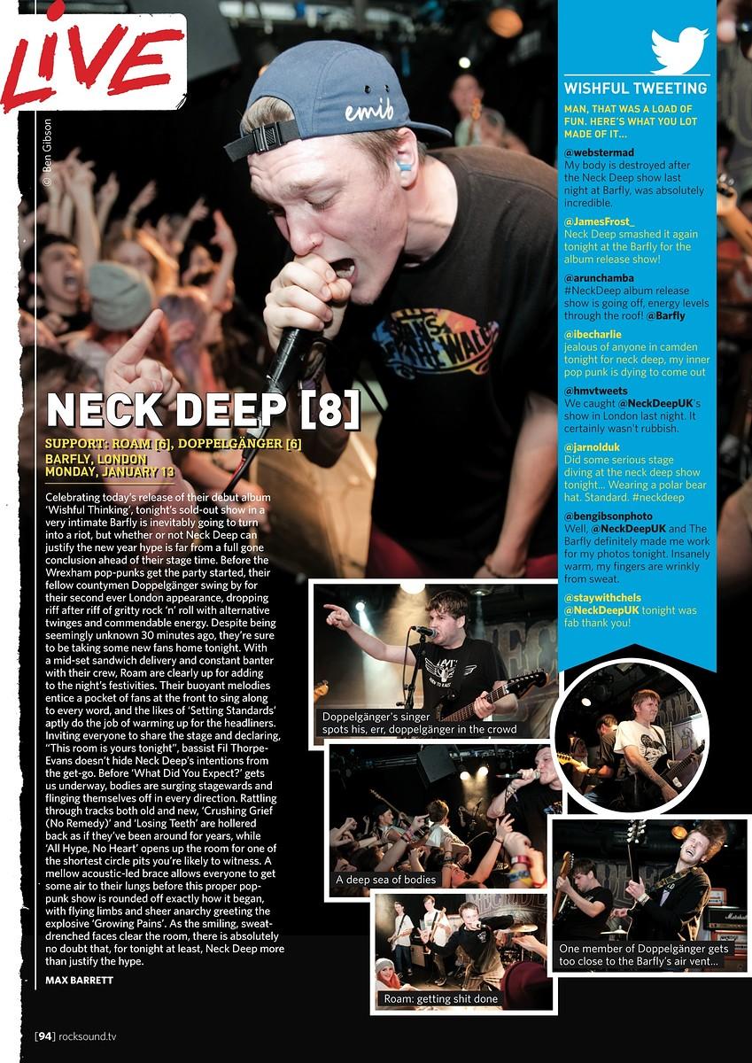 Neck Deep // Rock Sound, March 2014