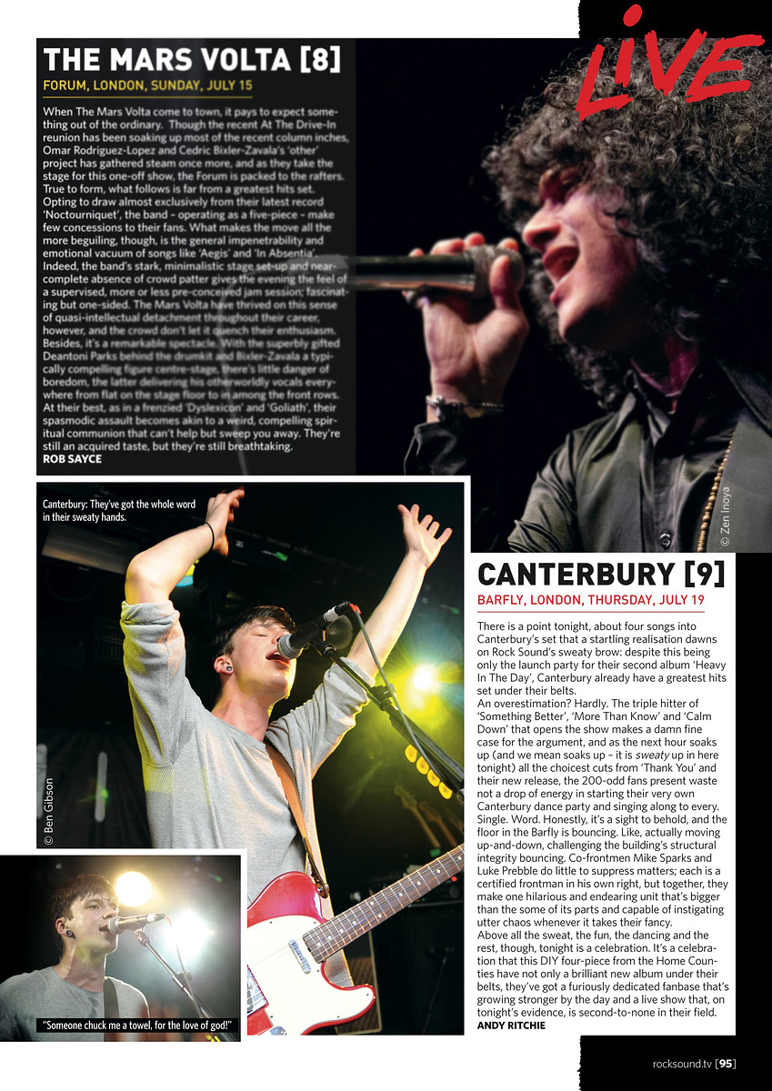 Canterbury // Rock Sound, September 2012