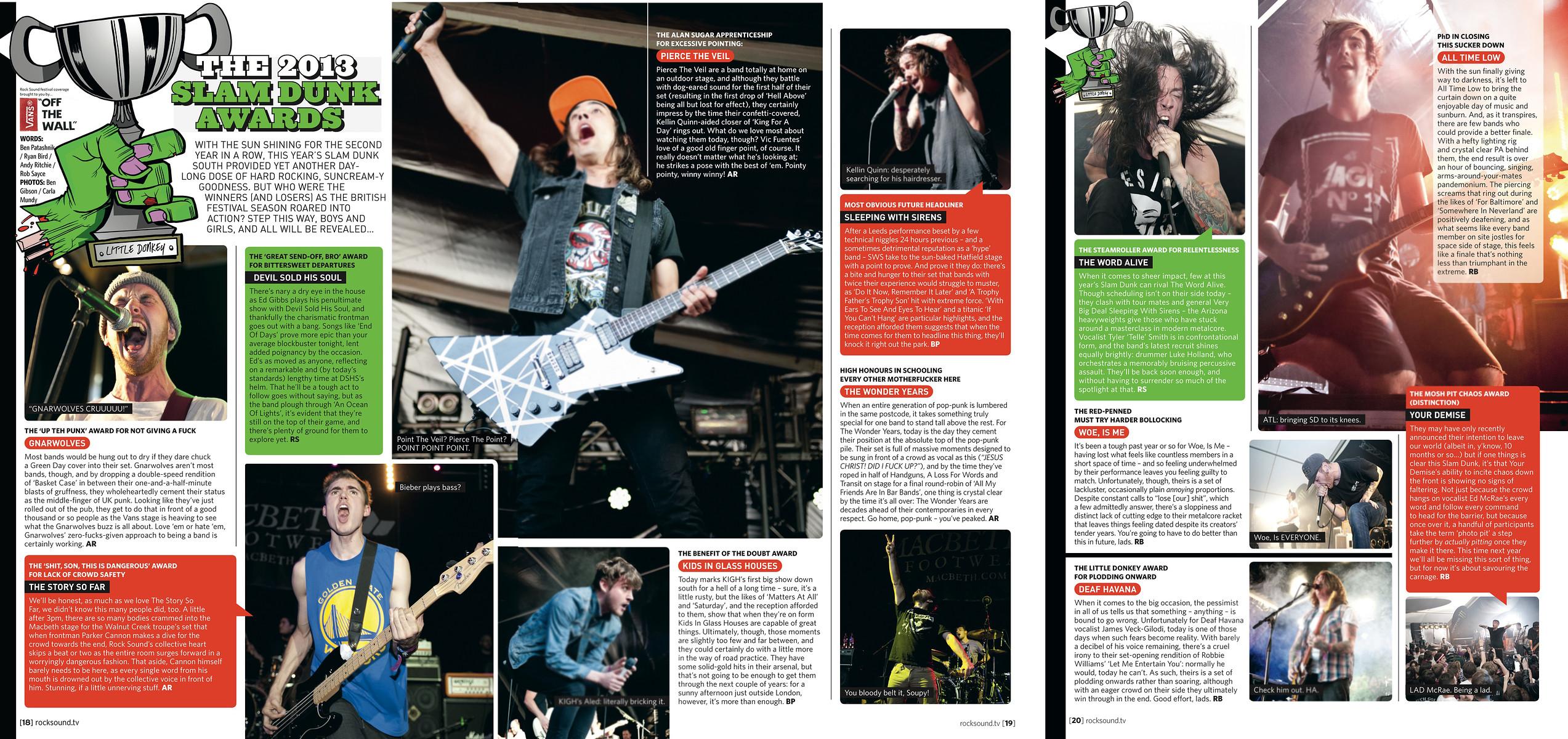 Slamdunk 2013 // Rock Sound, August 2013