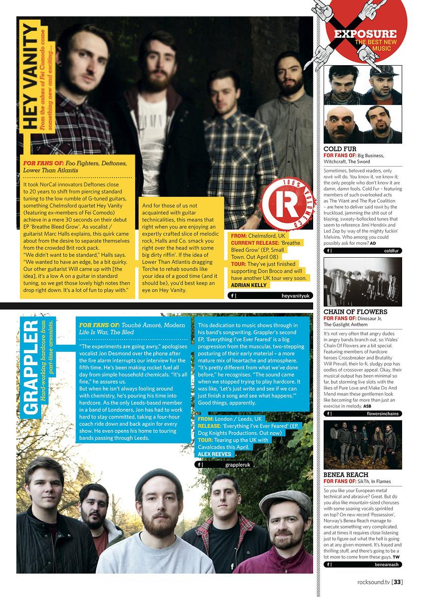 Grappler // Rock Sound, May 2013