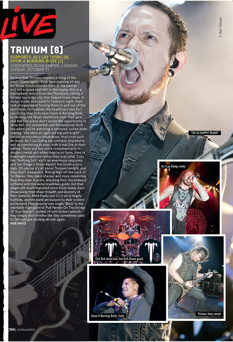 Trivium // Rock Sound, December 2012