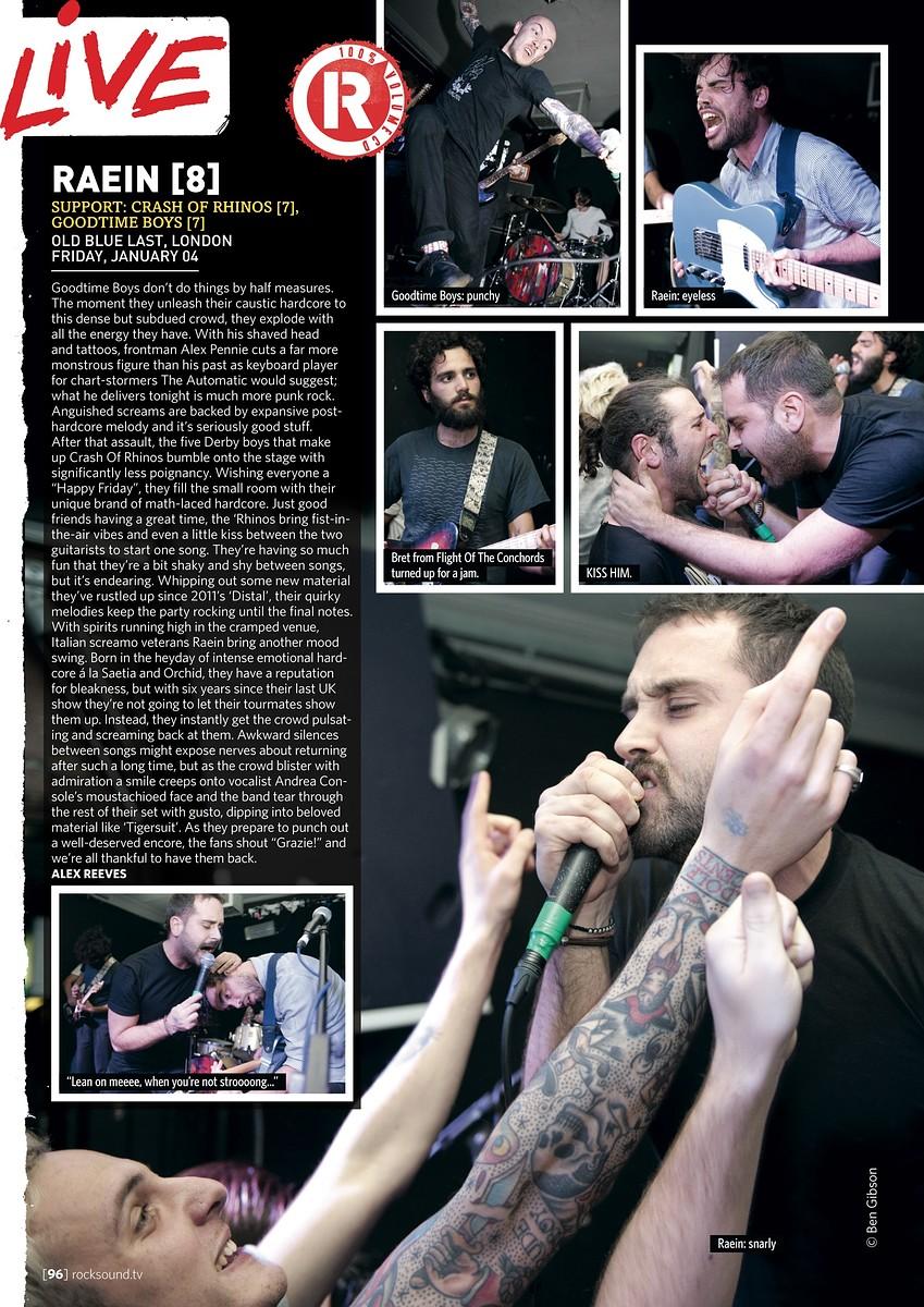 Raein // Rock Sound, March 2013