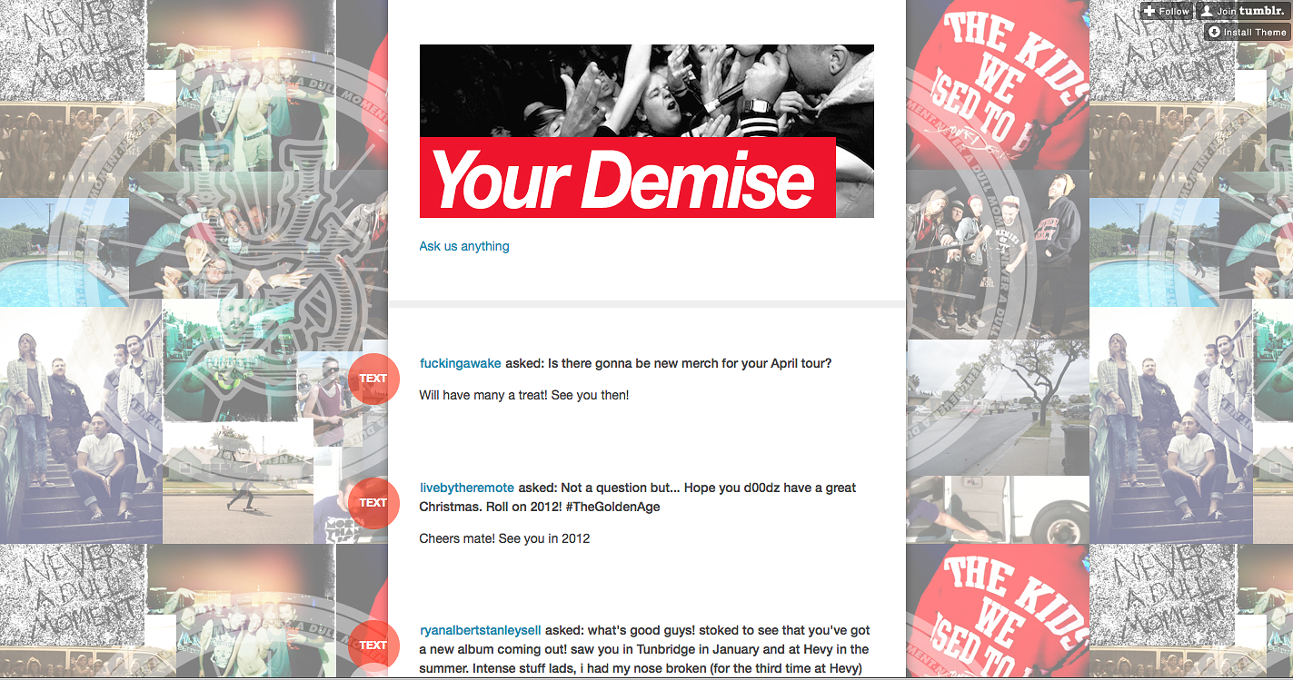 Your Demise // Tumblr header 2012