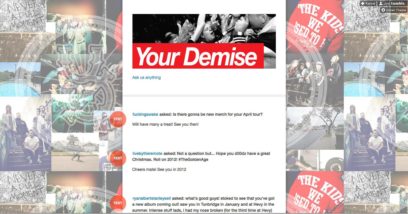 Your Demise // Tumblr header 2012