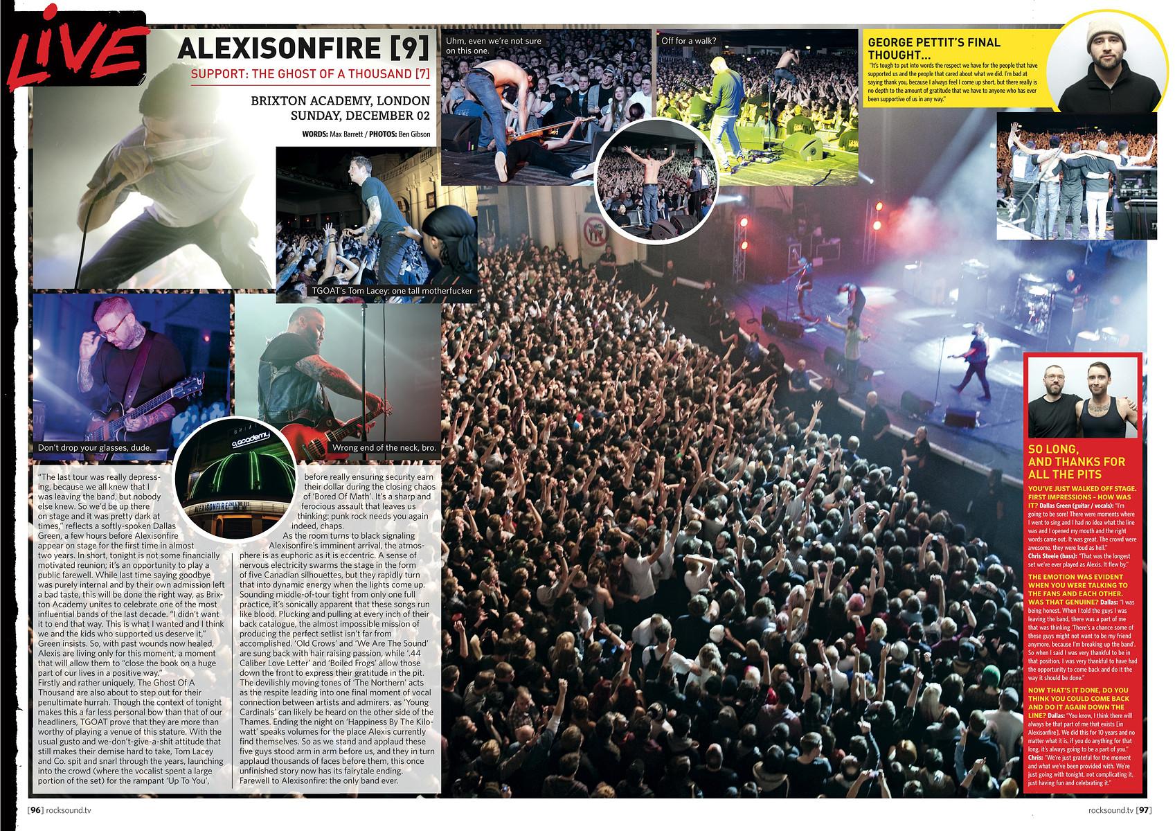Alexisonfire // Rock Sound, February 2013