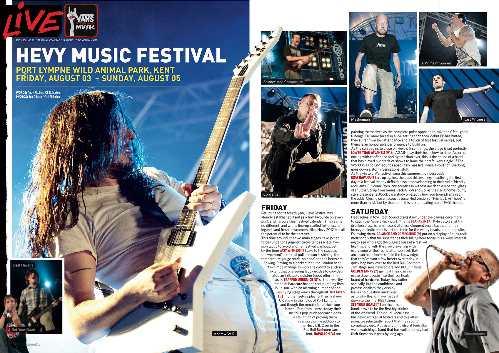 Andrew WK, Hevy Festival // Rock Sound, October 2012