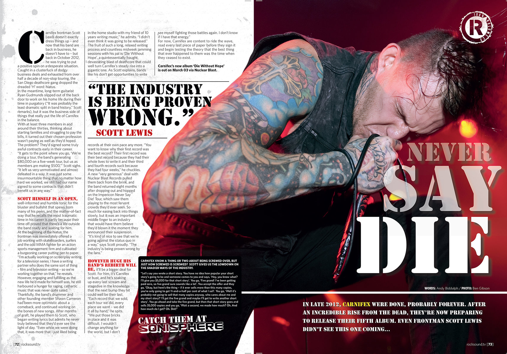 Carnifex // Rock Sound April 2014
