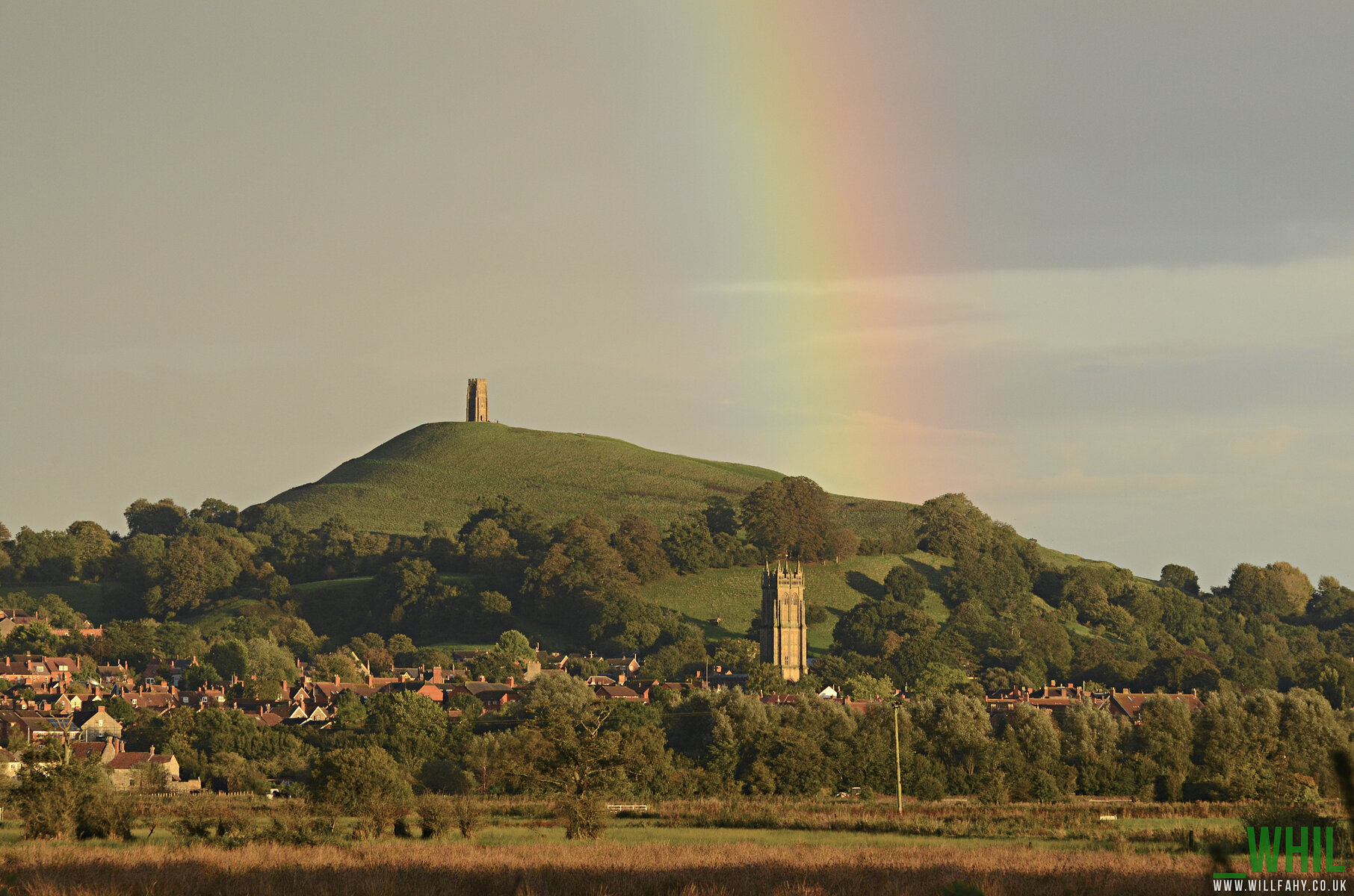 Rainbow over Glastonbury Tor