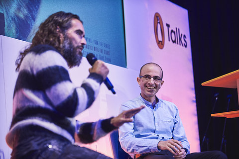 Russell Brand with #1 selling author, Yuval Harari - Penguin Talks