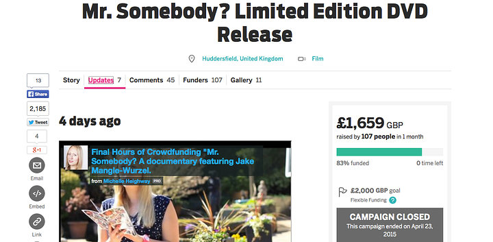 crowdfunding project complete