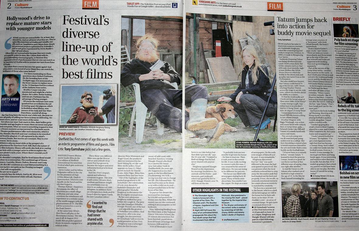 Yorkshire Post, Written by Tony Earnshaw