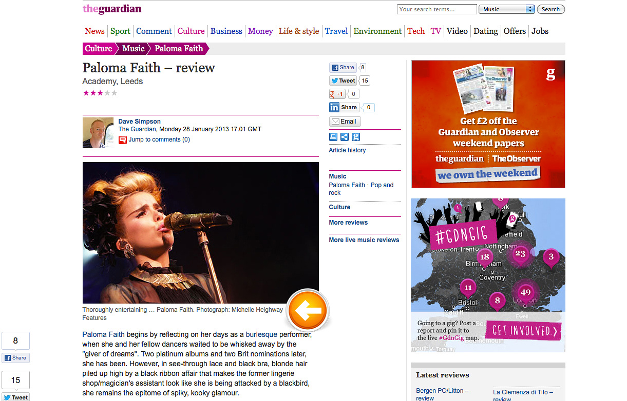 Paloma Blog The Guardian by Michelle Heighway