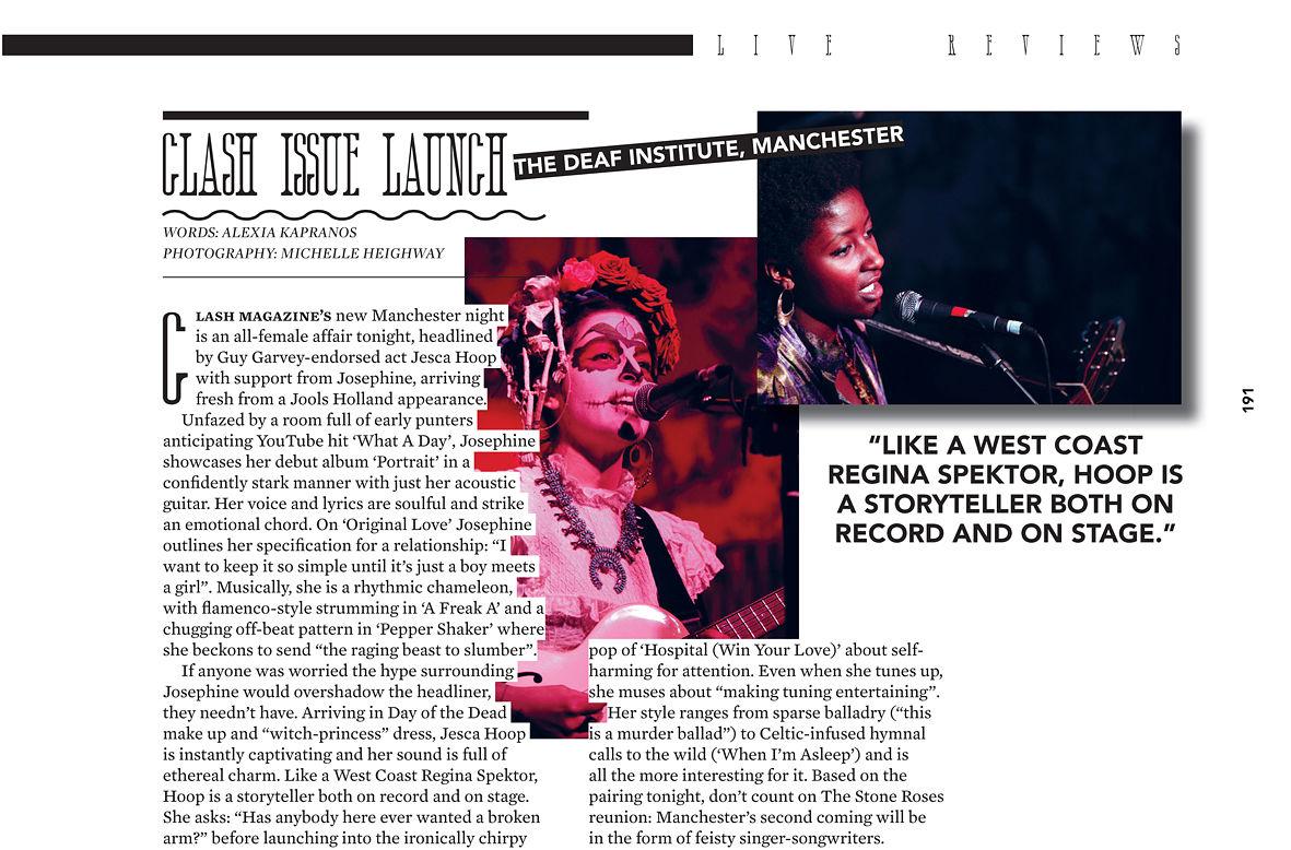 Clash Magazine  -  Jesca Hoop 2012