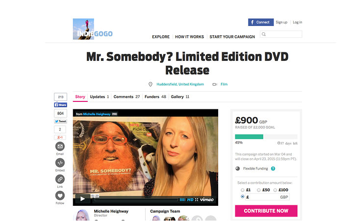 day 14 evening indiegogo £900