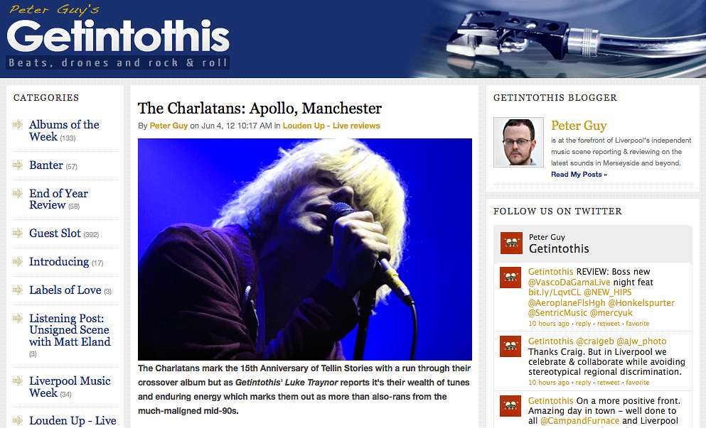 Charlatans Liverpool Echo