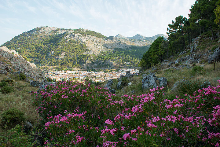 Grazalema from the base of the Dam