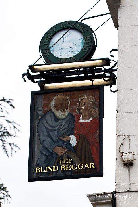 Blind Beggar Sign